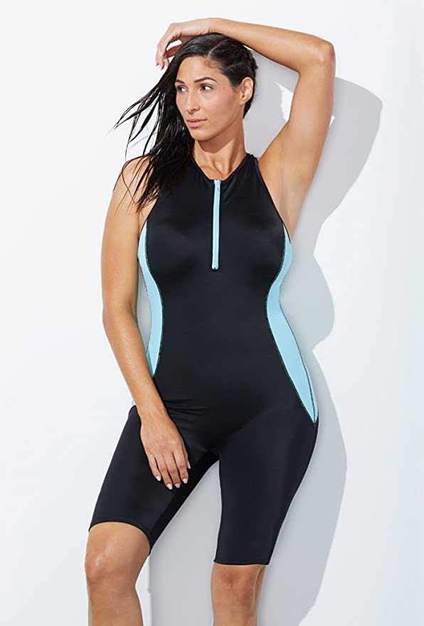 7b40f386c7a Swimsuits for All Women s Plus Size Lycra Xtra Life Sport Aquatard Swimsuit  at Amazon Women s Clothing store