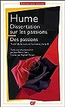 Dissertation sur les passions; Des passions par Hume
