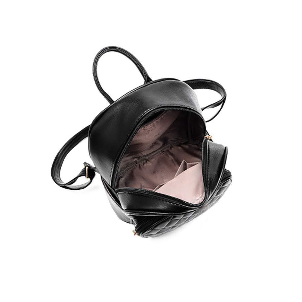 JulySeeYouz Ryggsäck för kvinnor PU-läder ryggsäck axelväska skolväskor stöldskydd dagväska söta flickor tonåringar liten ryggsäck resor dagryggsäckar Svart