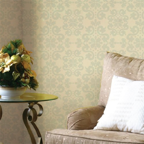 Jaipur Damask Wall & Floor stencil - Stencil only - 10 mil medium-duty by Stencil Ease
