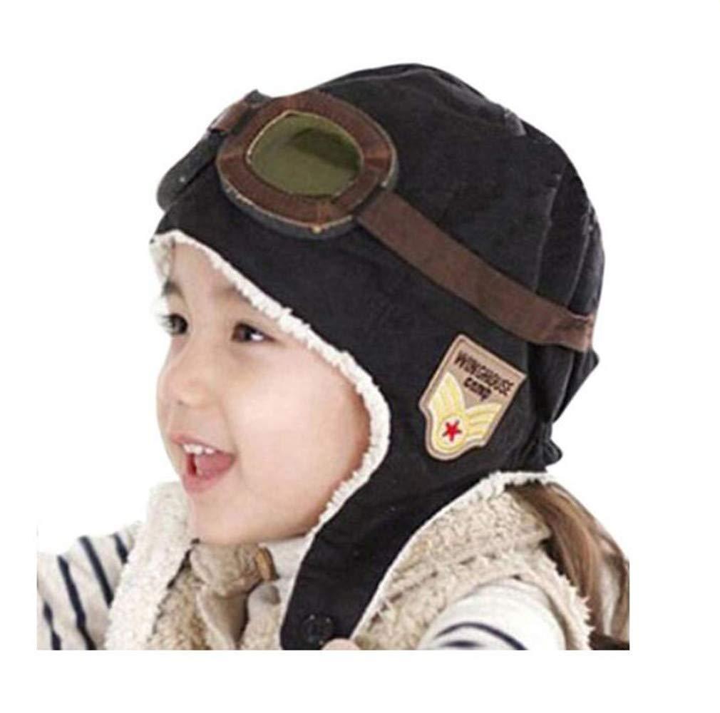 Genius_Baby Children Winter Earflap Pilot Cap Aviator Hat Beanie Flight Helmet Baby Genius