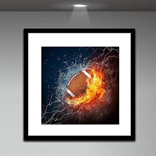 Dinglong Peinture de Diamant 5D Broderie Peinture Strass Ma Passion pour Le Rugby Croix brod/ée Diamant Broderie mosaicques Diamond Wall d/écalcomanies