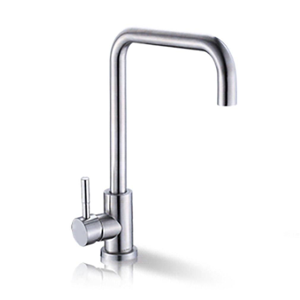 KüChe Waschbecken Waschbecken 304 Edelstahl Wasserhahn Hot And Cold , B