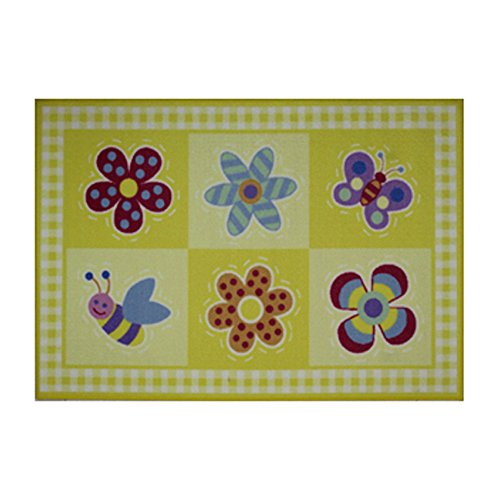Olive Flowerland Kids - Fun Rugs Olive Kids Flowerland Home Decorative Accent Area Rug 19
