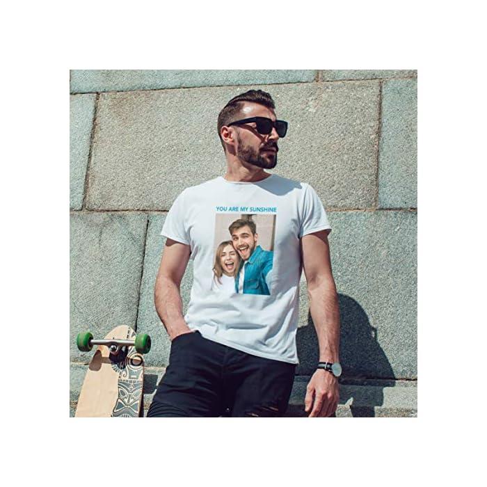 51g7OhRY3UL DTG de ALTA CALIDAD - que depende de la calidad de la imagen recibida. Crea tus propias camisetas con el lema Hombres, mujeres y niños y añade una divertida cita personalizada para un regalo perfecto. También puedes enviarnos tu foto favorita y nosotros la imprimiremos en la prenda. Aquí están las mejores ideas de regalos para cada temporada y ocasión. Las camisetas de la empresa con su logotipo son una forma perfecta de promocionar su negocio, equipo, escuela o evento Calidad – Tallas Europeas - Por favor mida cuidadosamente antes de comprar y elija una talla más para obtener mayor comodidad, ¡en caso de ser necesario! Camisa manga corta de alta calidad para hombres, 100 % algodón suave. 100% Algodón
