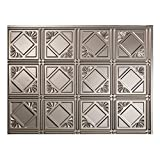 Fasade Easy Installation Traditional 4 Brushed Nickel Backsplash Panel for Kitchen and Bathrooms (18 sq ft Kit)