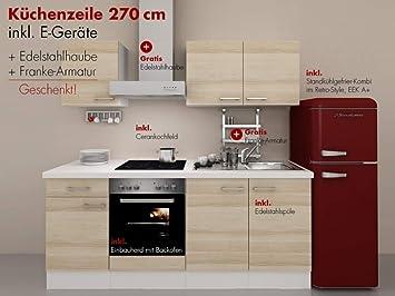 Küchenzeile Mit Retro Kühlschrank : Küchenzeile cm arezzo egeräte retro kühlschrank amazon
