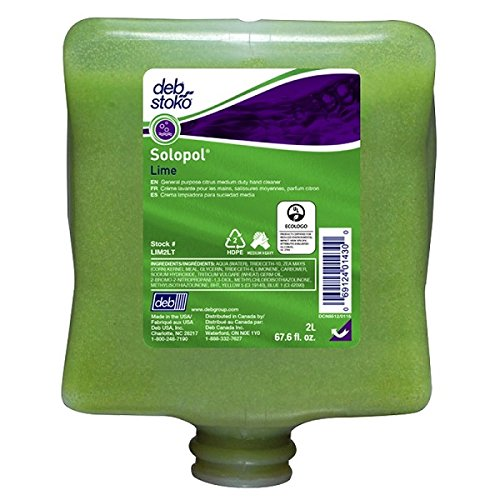 Solopol Lime Medium Heavy-Duty Cleanser, 2 L (20 Pack)