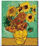 "DiyOilPaintings Paint By Numbers Kits, Paint By Number Kits, 20""x16"", Original Oil Painting By Van Gogh, Sunflowers Paint By Numbers Kits Masterpieces"