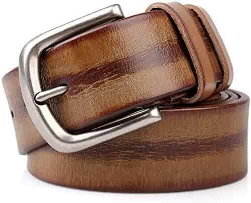 4a193fa08 Genuine Leather Men's Belts Single Prong Buckle 38mm Belt Classic and  Fashion Design Business Leisure Style