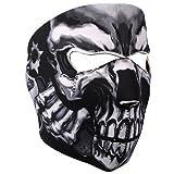Neoprene Skull Full Face Reversible Motorcycle Mask (Assassin)