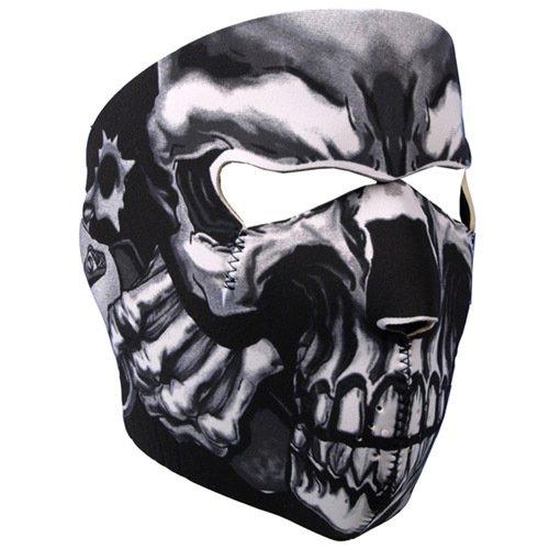 Neoprene Skull Full Face Reversible Motorcycle Mask (Assassin) by IKADEER