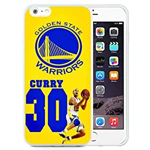 Hot Sale And Popular iPhone 6 Plus 5.5 Inch TPU Case Designed With golden state warriors 02 White iPhone 6 Plus Phone Case