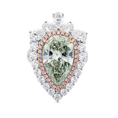 8.69Cts Green Diamond Engageme