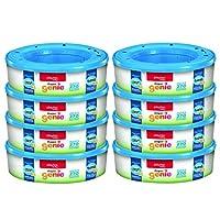 Playtex Diaper Genie Bolsas de repuesto, ideales para cubos de pañales Genie de pañales, juego de regalo de registro, paquete de 8, 2160 unidades