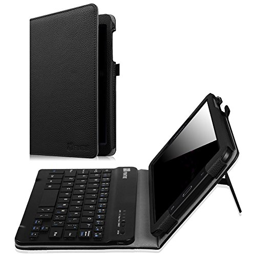 Fintie Samsung Galaxy Tab E 8.0 Keyboard Case, Slim Fit Folio PU Leather Case Cover with Detachable Magnetical Bluetooth Keyboard for Galaxy Tab E 32GB SM-T378/ Tab E 8.0 SM-T375/T377, Black (Tablet Case Bluetooth)