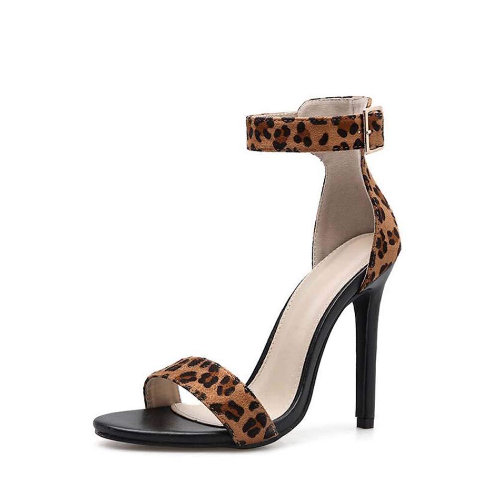 Mamrar Frauen Pump D ' Orsay Ankle Straps Sandalen Sexy Leopard Print Belt Schnallen OL Court Schuhe Eu Größe 34-40