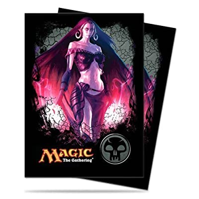 1 X 80 Ultra Pro Deck Protector Gallery Card Sleeves - Magic Mana 4 Planeswalkers - Liliana - Black - Swamp: Toys & Games