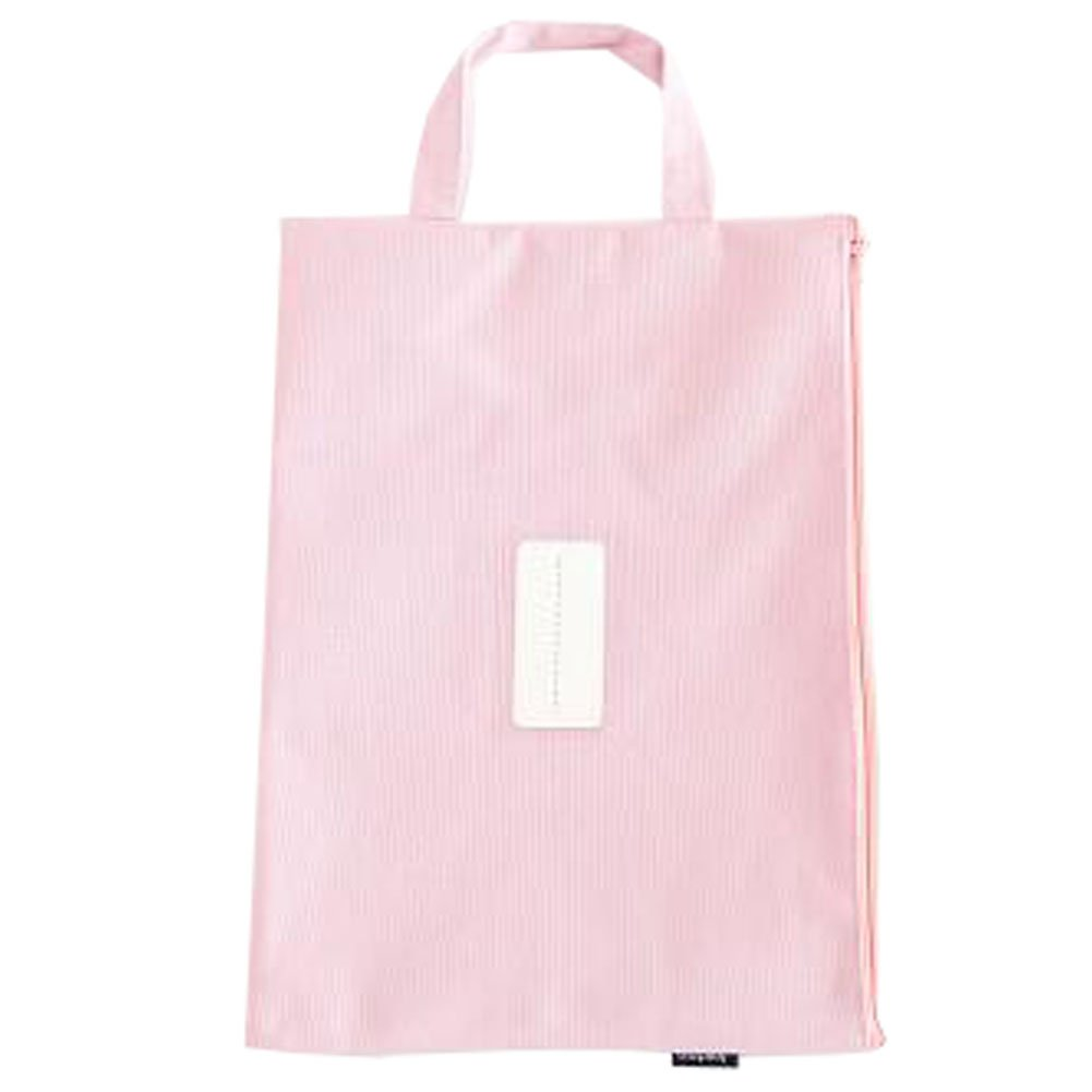 Cute File Bag Stationery Bag Pouch File Envelope for Office/School Supplies, Pink