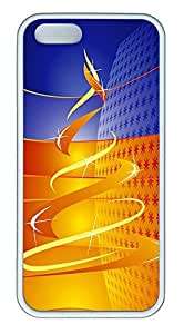 iPhone 5 5S Case Christmas Abstract HD TPU Custom iPhone 5 5S Case Cover White