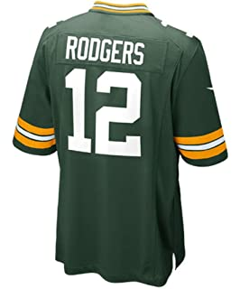 Amazon Com Nike Men S Aaron Rodgers Green Bay Packers Game Jersey Sports Fan Jerseys Clothing
