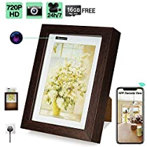 16GB 720P HD WiFi Hidden Security Camera Picture Frame with 24 Hours Continuously Video Recording, Motion Activated Recording, Loop Recording, Remote ViewFunctions