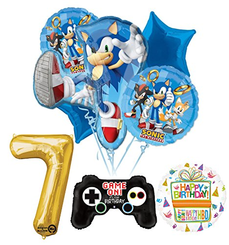 Mayflower Products The Ultimate Sonic The Hedgehog 7th Birthday Party Supplies and Balloon Decorations