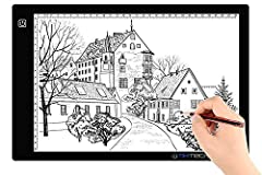 Product Description: - It is super thin and the acrylic surface makes it feel like a glass panel - This Artcraft tracing light pad is a sleek light-up pad, the light from the pad through the paper clearly illuminates the images, which makes t...