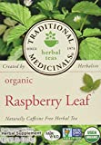 Cheap Traditional Medicinals Organic Raspberry Leaf Herbal Tea Caffeine Free 16 Bags Pack of 3