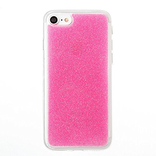 Hülle für iPhone 7 ,Schutzhülle Für IPhone 7 Ultra Thin Slim Weiche Flexible Silikon TPU Gel Bling Glitter 360 ° Full Coverage Cover Case ,cover für apple iPhone 7,case for iphone 7 ( Color : Rose )