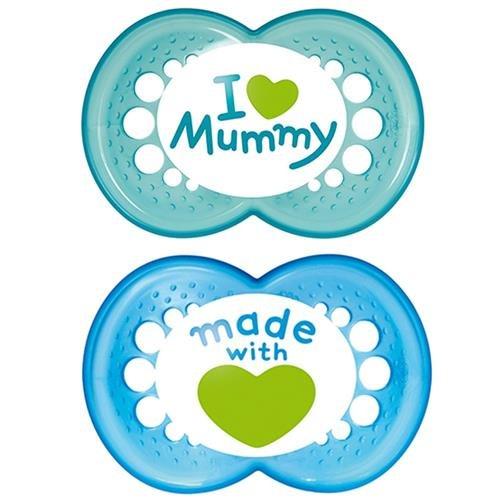 Chupetes mam Original 6 m + Silicona Love Mummy Azul/Azul ...