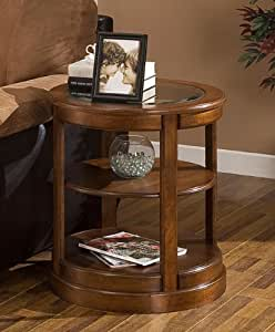 Amazon Com Round End Table With Glass Top These Small