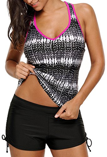 Aleumdr Womens Printed Racerback Tankini product image