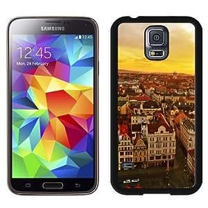 NEW Unique Custom Designed Samsung Galaxy S5 I9600 G900a G900v G900p G900t G900w Phone Case With Plzen Czech Republic Sunset_Black Phone Case