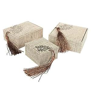 Amazon.com: 3 Piece Set of Jewelry Gift Box - Linen
