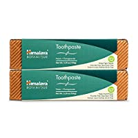 Himalaya Neem and Pomegranate Toothpaste, Natural, Fluoride-Free, SLS Free, Gluten Free & Saccharin Free, 5.29 oz (150 g) 2 PACK