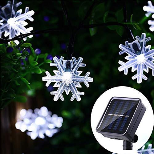 Snowflake Solar Christmas Lights in US - 9