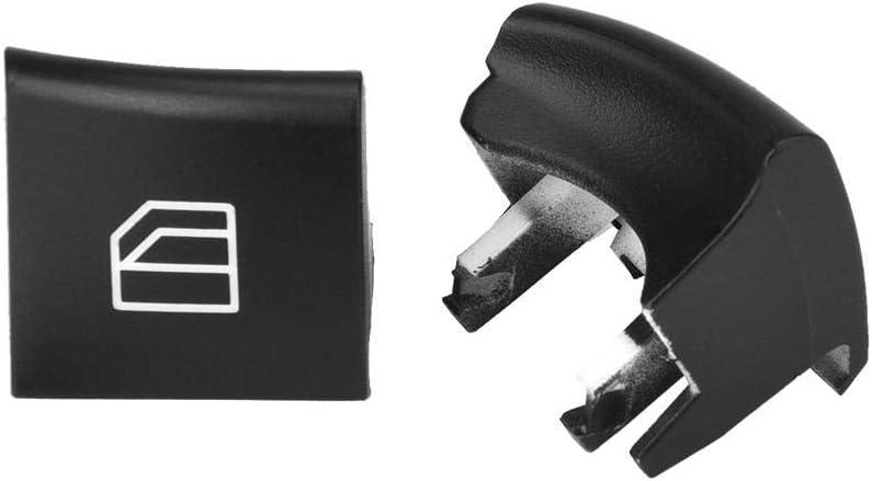 Bouton de r/éparation de capuchon de commutateur de vitre conducteur 2 pour ML GL R classe 05-12 Couvercle de capuchon de commutateur de vitre dalimentation de voiture