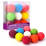 SAZEN Bath Bombs Gift Set 9 packs,Moisturizing with Vegan Natural Essential Oils, lush Spa Fizzies Jojoba Oil, Shea butter, Perfect Gift Ideas for Birthday, Mother's Day Girlfriends,Wife