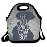 Bakeiy Cowboy Bebop Poster Lunch Tote Bag Lunch Box Neoprene Tote For Kids And Adults For Travel And Picnic School offers