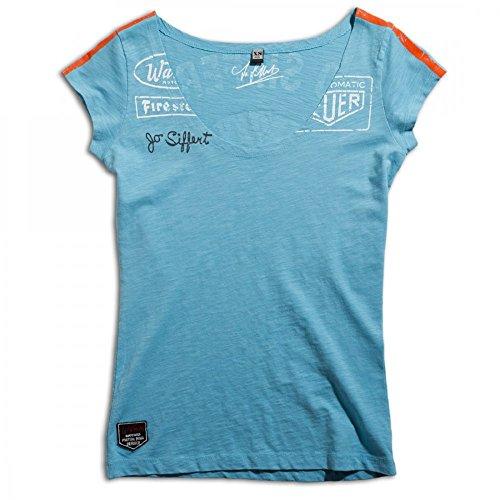 (Warson Motors Ladies Targa Gulf Blue T-Shirt L)