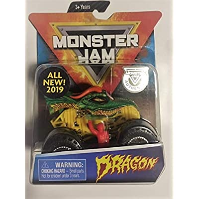 MonsterJam Dragon with Figure and Poster: Toys & Games