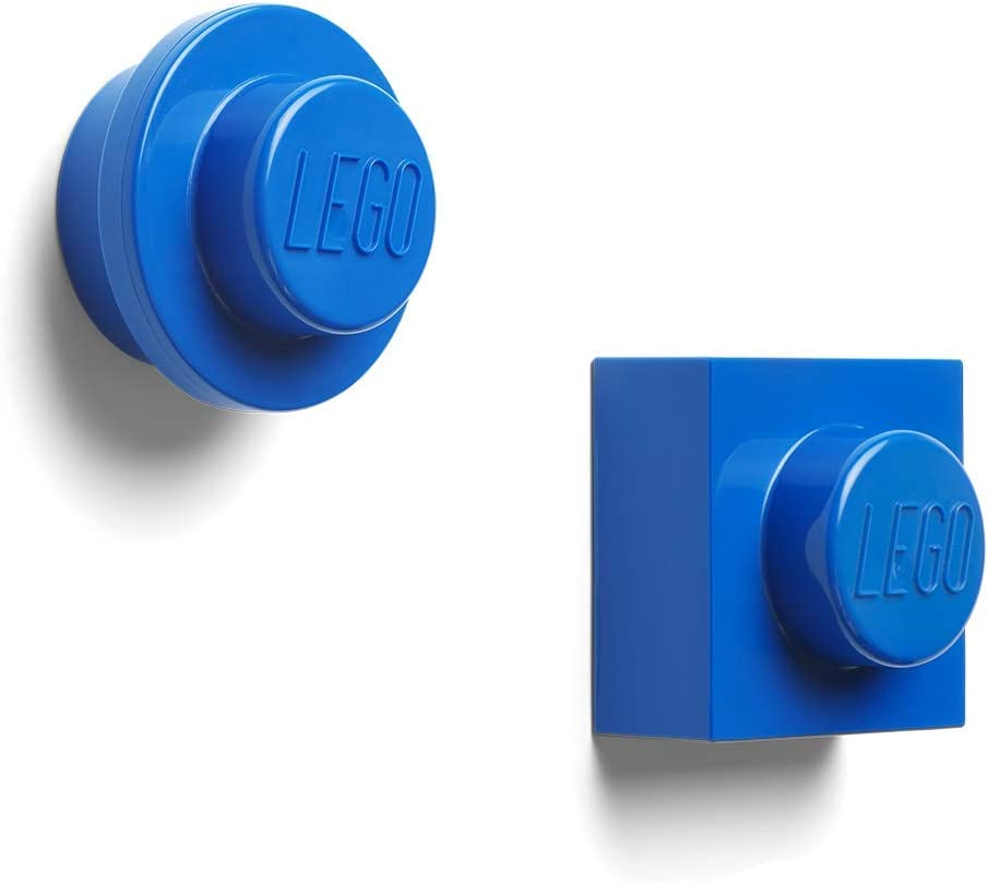 LEGO Magnet Set Round and Square-Blue, us:one Size