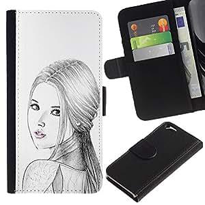 Mujer Rusa Moda Señora Lápiz- la tarjeta de Crédito Slots PU Funda de cuero Monedero caso cubierta de piel Para Apple (4.7 inches!!!) iPhone 6 / 6S