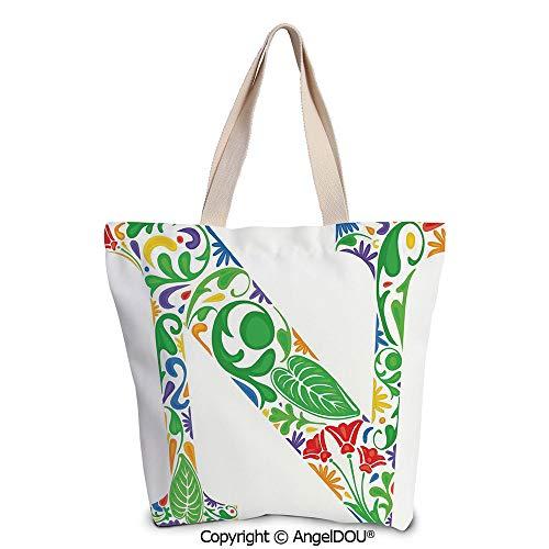 SCOXIXI Letter N Reusable Eco-friendly Shopping Shoulder bag Mother Earth Inspi