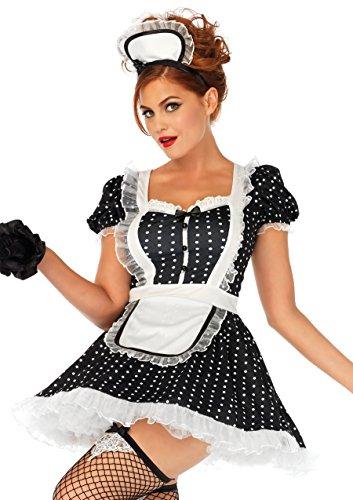 Leg Avenue Women's Sexy French Maid Costume, Black/White, X-Large ()