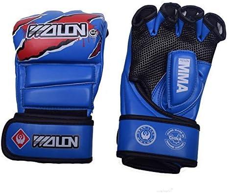 HUYYA ボクシンググローブ、ボクシングテコンドーフィットネスムエタイのための男性のための強化されたバージョンのカスタムボクシングの手袋ファッション弾性スポーツ保護ボクシンググローブを,Blue_23*12CM