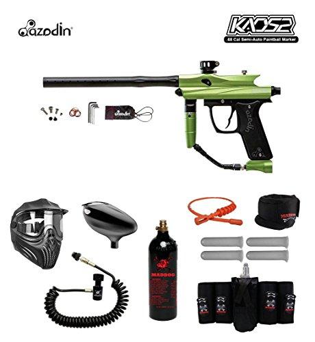 MAddog Azodin KAOS 2 Elite Remote CO2 Paintball Gun Package - Green/Black