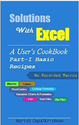Solutions With Excel Part I  Basic Recipes