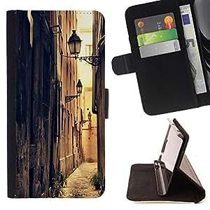 Devil Case- Estilo PU billetera de cuero del soporte del tirš®n [solapa de cierre] Cubierta FOR Samsung Galaxy G360 G3608 G3606- Retro Road